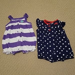 3m baby girls rompers